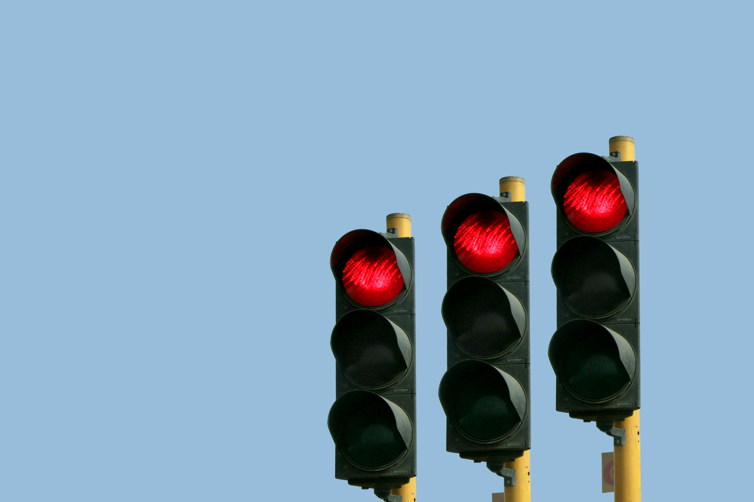 Traffic lights were made for man, not...
